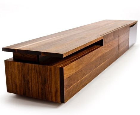 Contemporary Storage Furniture For Media Clothes In Solid Hardwood By Izm