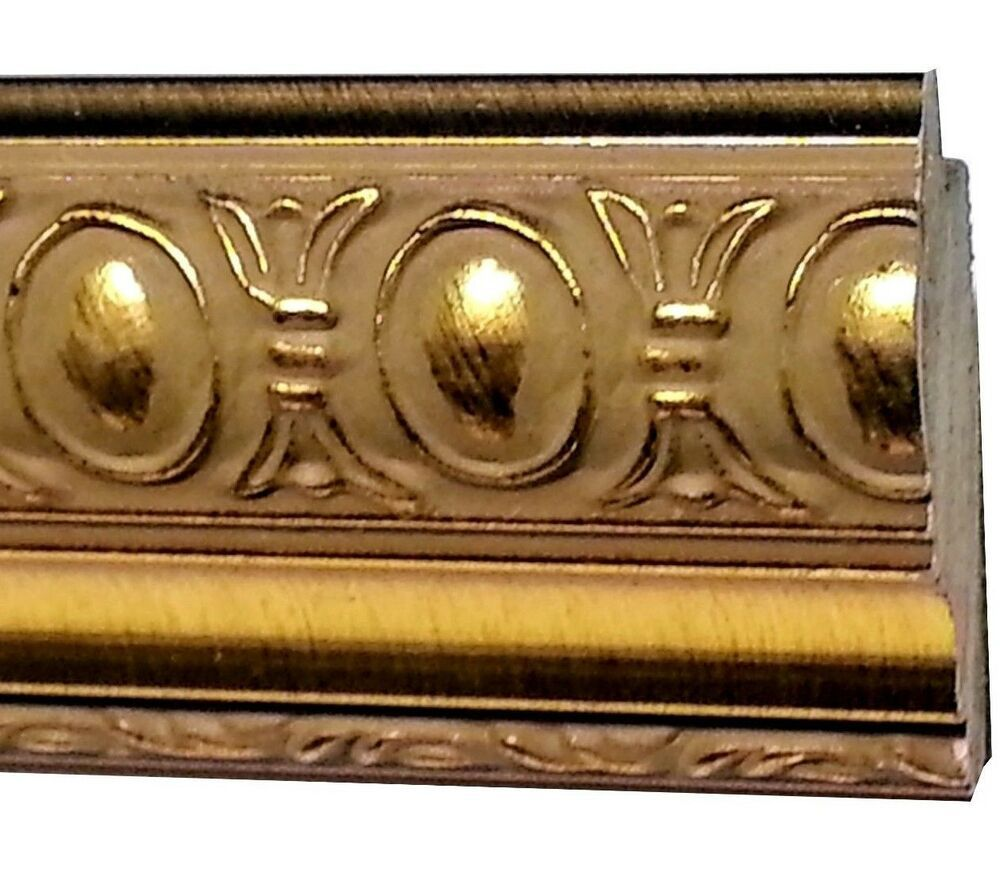 40 Feet Wide Gold Ornate Picture Frame Molding Wood Oval Bead Imported Southernmol Ornate Picture Frames Picture Frame Molding Gold Ornate Picture Frames
