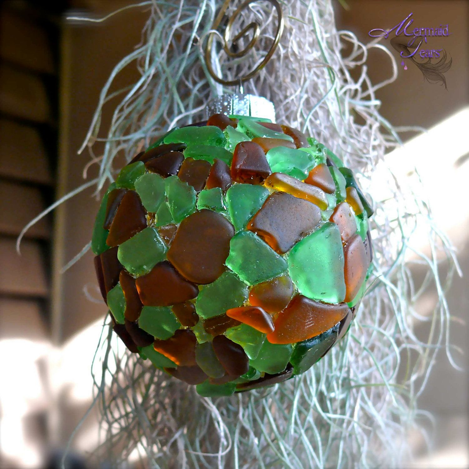 Sea Glass Ornament for a Tropical Style Christmas ...