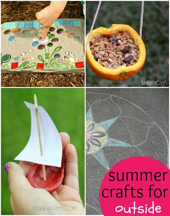 Easy Summer Craft Ideas For Kids Part - 38: 16 Creative U0026 Easy Summer Crafts For Kids