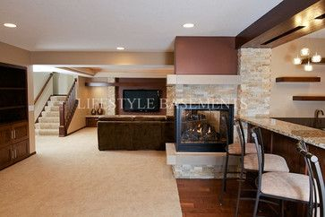 3 Sided Fireplace Design Ideas Pictures Remodel and Decorpaint