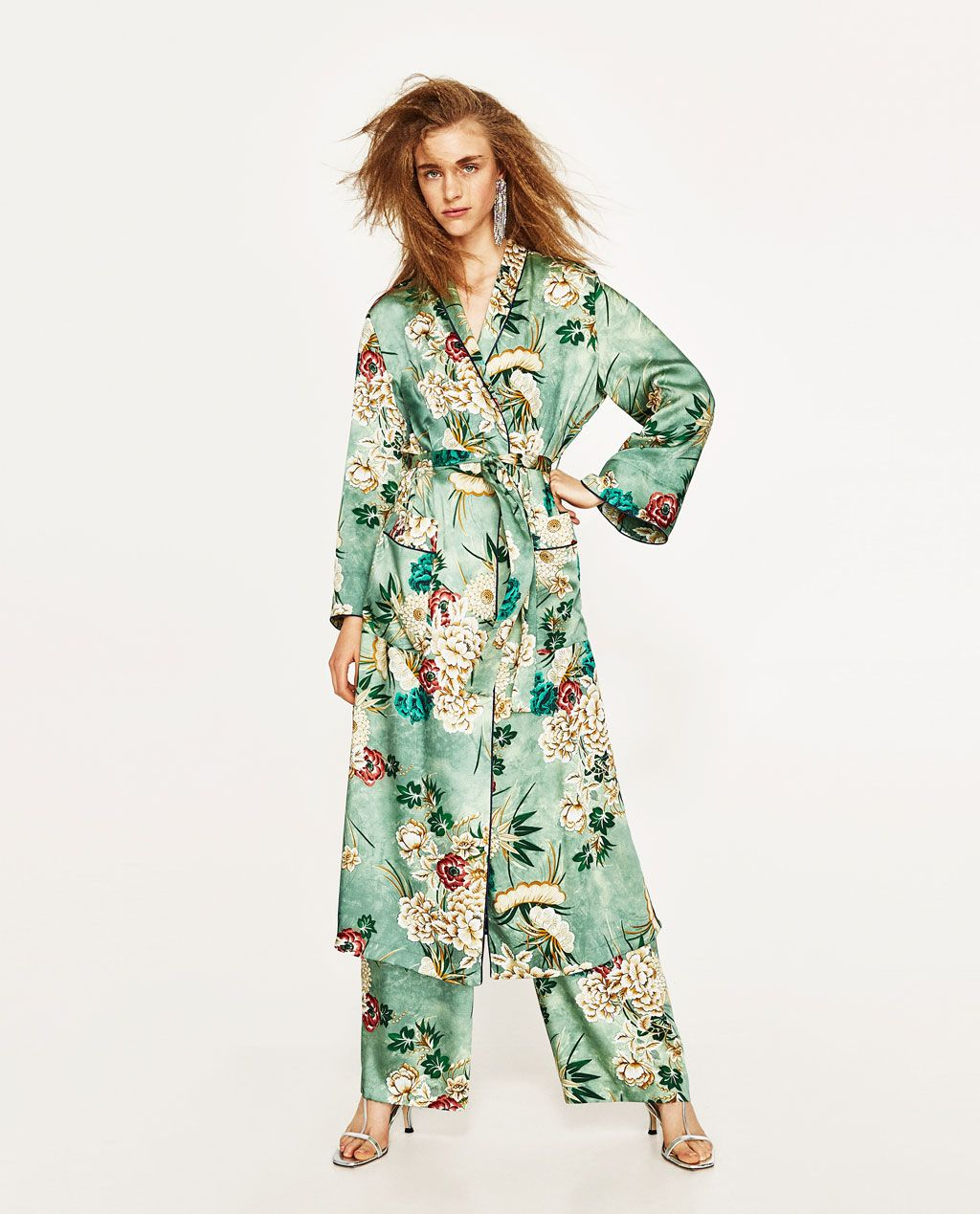 a134fc50 PRINTED KIMONO-DRESS TIME-WOMAN | ZARA United States | Fashion ...