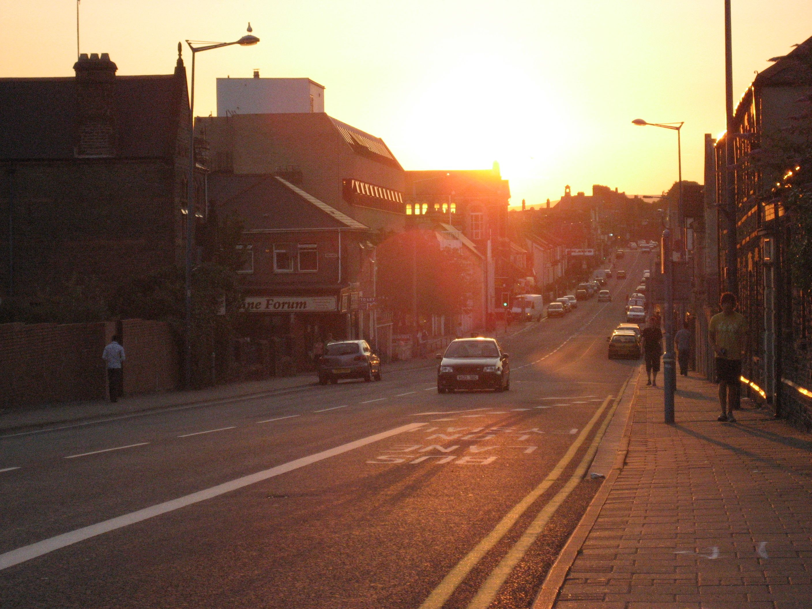 Sunset on Crwys Road, Cardiff