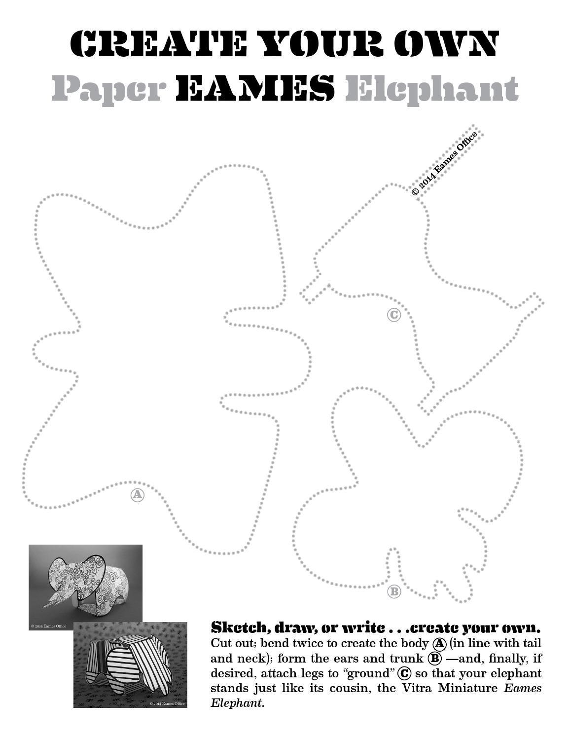 elephant ear outline pattern www
