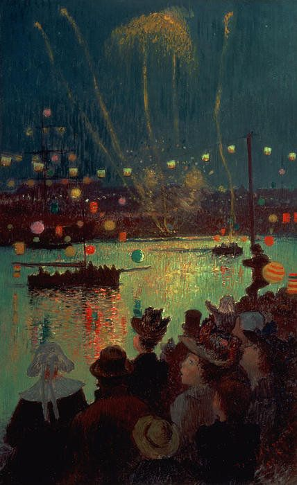 Bastille Day at Lorient, 1892 by Henry Moret (1856-1913)