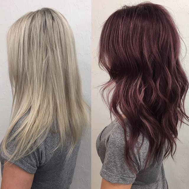 Before And After Blonde To Red Transformation Hair Hair Transformation Dark Hair