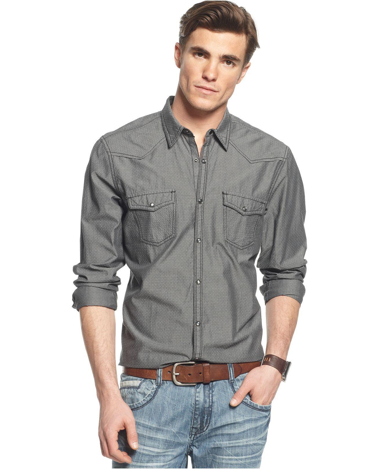Inc international concepts shirt long sleeve wimbley