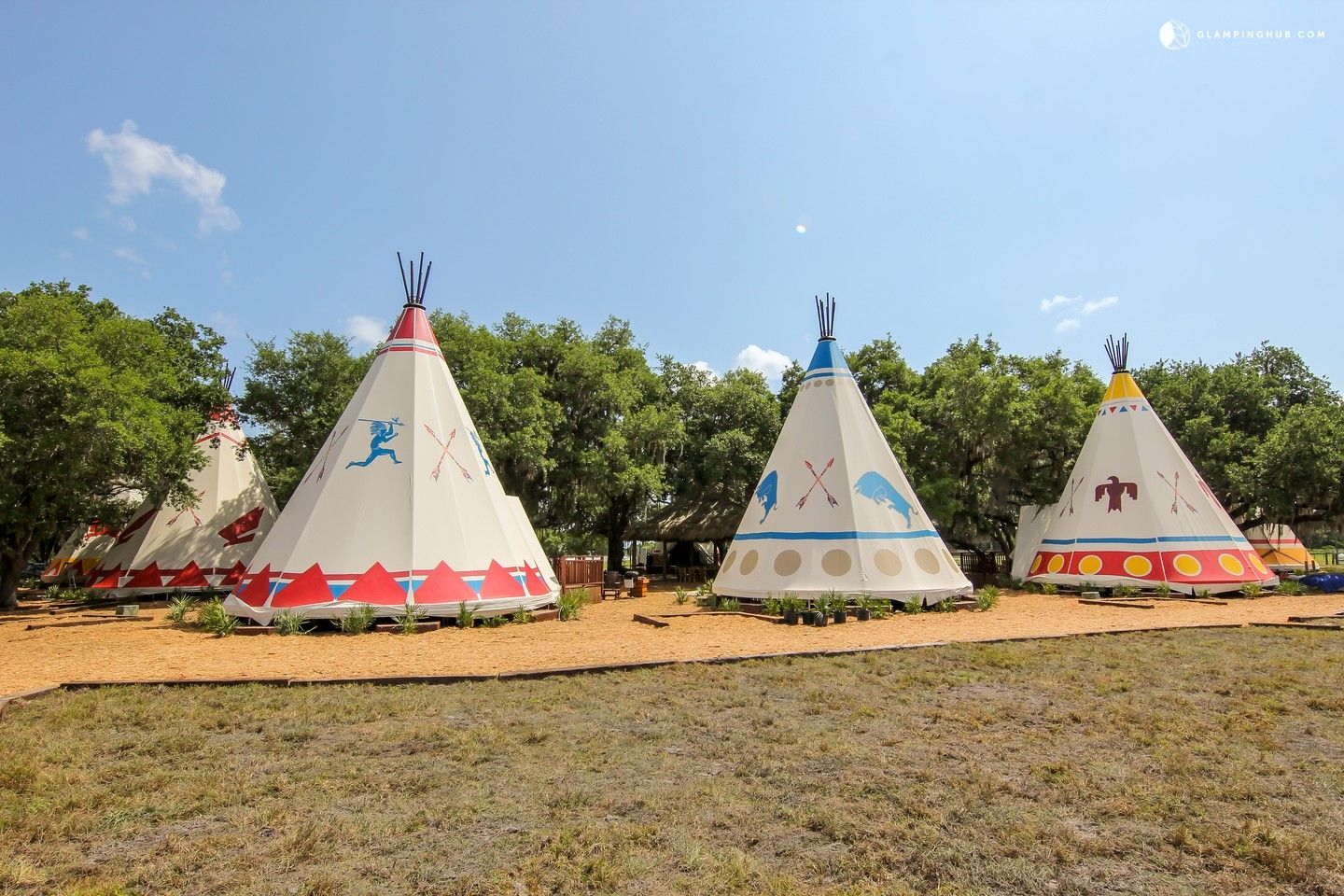 Luxurious and Native American Style Tipi Rentals on a