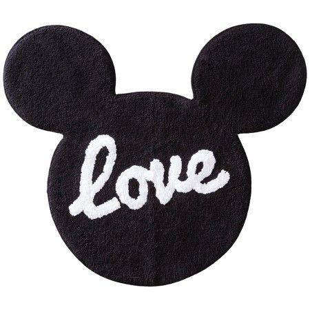 Disney Bath Rugs Mickey Mouse Love Bath Room Home Mat Decor
