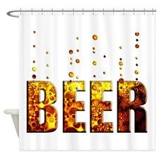 Beer Shower Curtain By Expressions Beer Decorations Beer