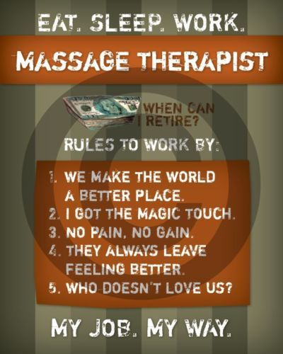 Massage Therapist 8x10 Print Gift Funny Therapy Chiropractor Masseuse Massage Therapy Business Wellness Massage Therapeutic Massage