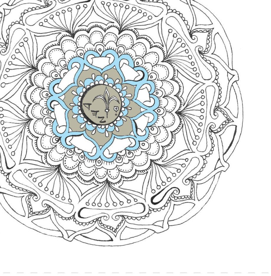 NIS Mandala/coloring page/Instant download/coloring/adult coloring ...