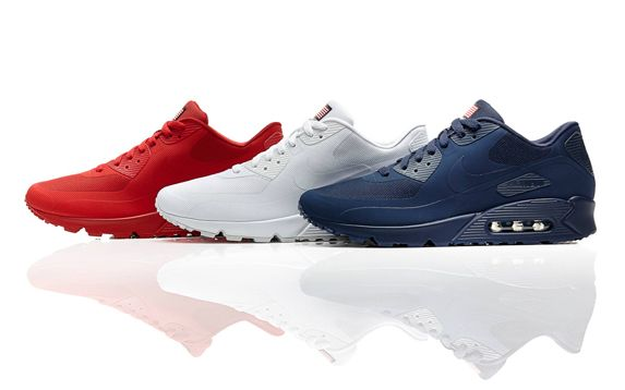 Nike Air Max 90 Hyperfuse, one for each color of the