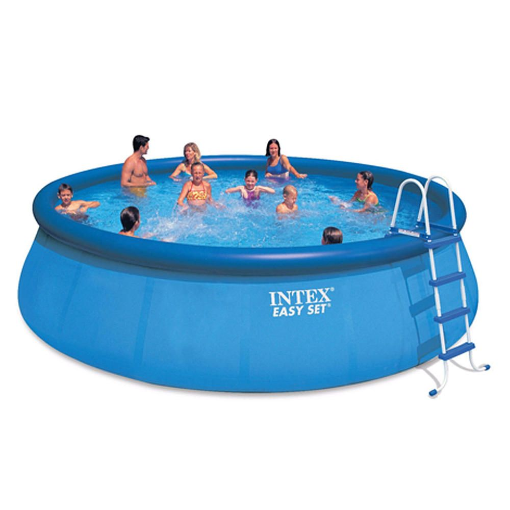 Intex 18 foot x 48 inch Easy Set Pool with Saltwater System is easy ...