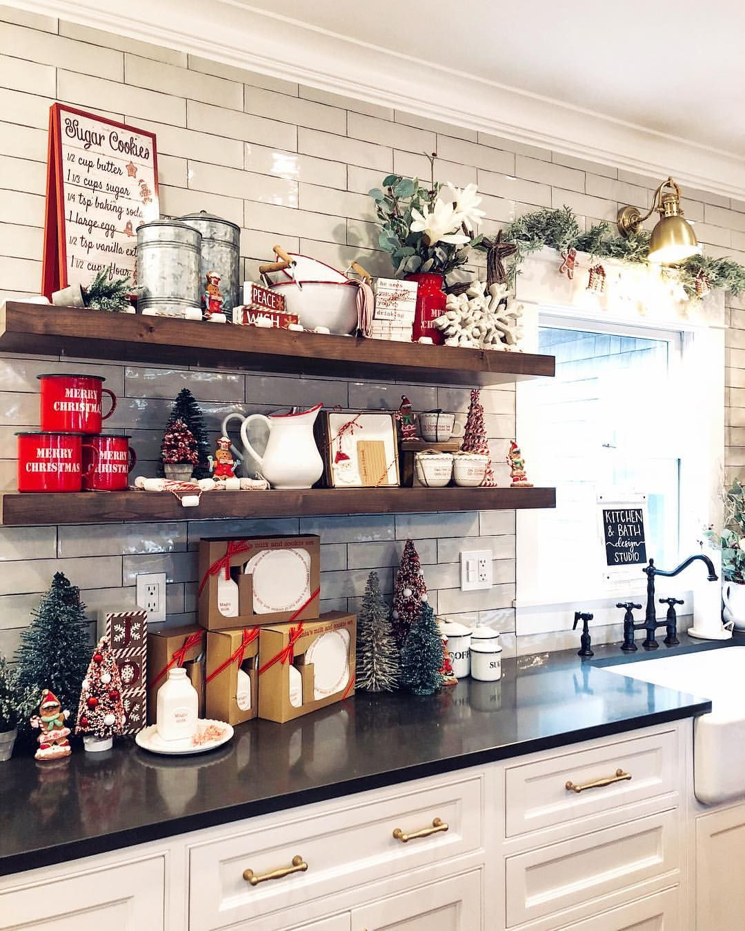 the beautiful kitchen in southold has officially been styled for christmas while we style it on kitchen cabinets xmas decor id=75162