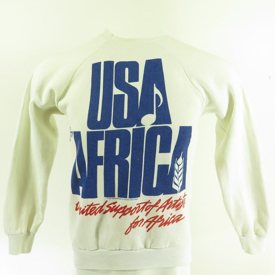 Vintage 80s We Are The World Sweatshirt M Usa For Africa Union Made The Clothing Vault Vintage 80s Clothing Vintage Sweatshirt Sweatshirts [ 960 x 960 Pixel ]