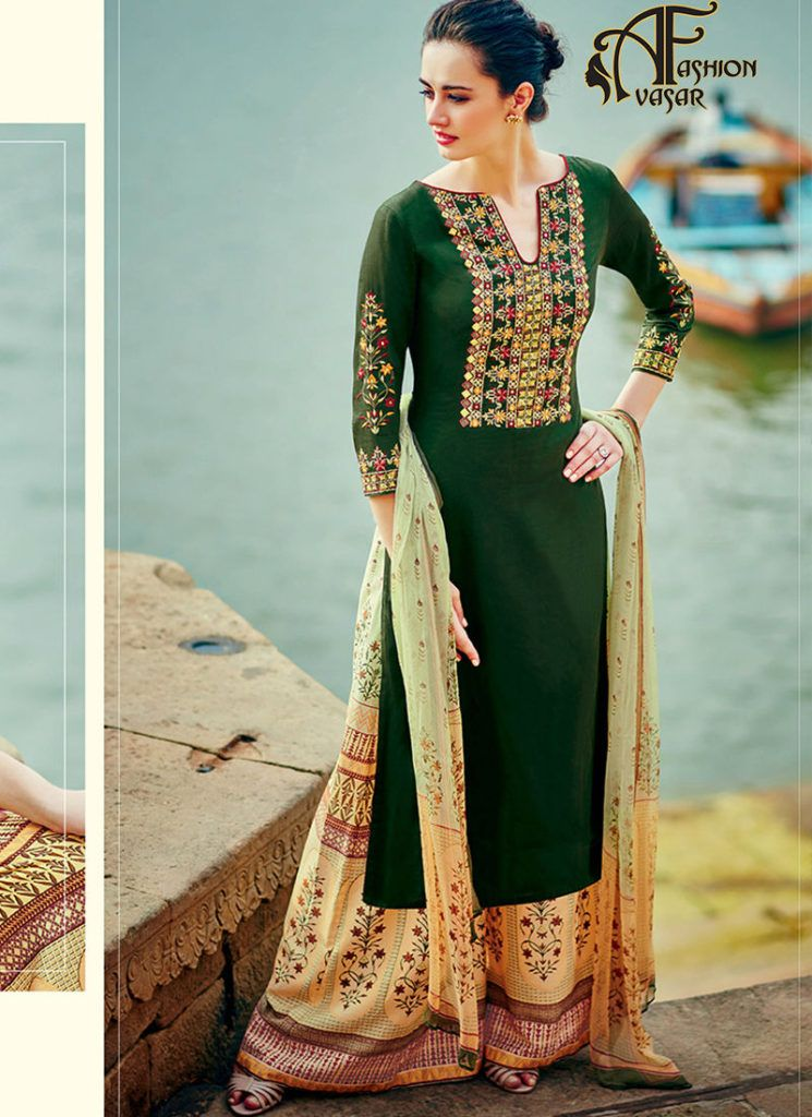 8e7e5a48d44 designer palazzo suits online – buy online salwar suits straight cut ...