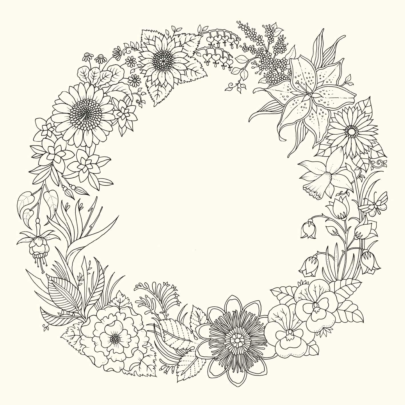 johanna basford world of flowers Flower coloring pages
