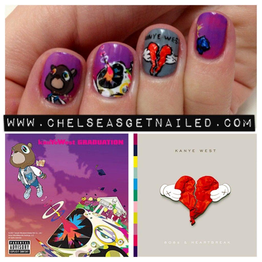 SUPER COOL Kanye West Inspired design! | Nail Me | Pinterest | Kanye ...