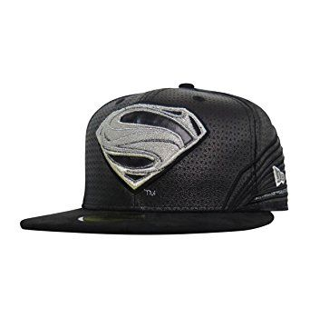 new concept 36f09 dd725 Superman Black Armor Justice League 59Fifty Fitted New Era Hat Review