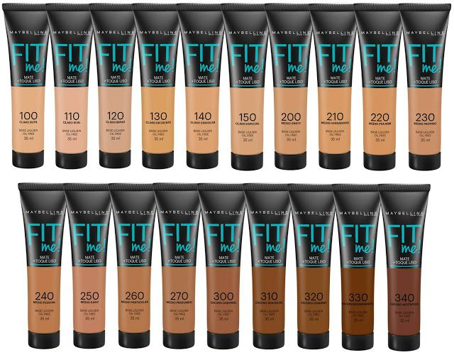 Maybelline Fit Me Foundations Shade Ranges Produtos De Maquiagem Baratos Produtos De Maquiagem Marcas De Cosmeticos