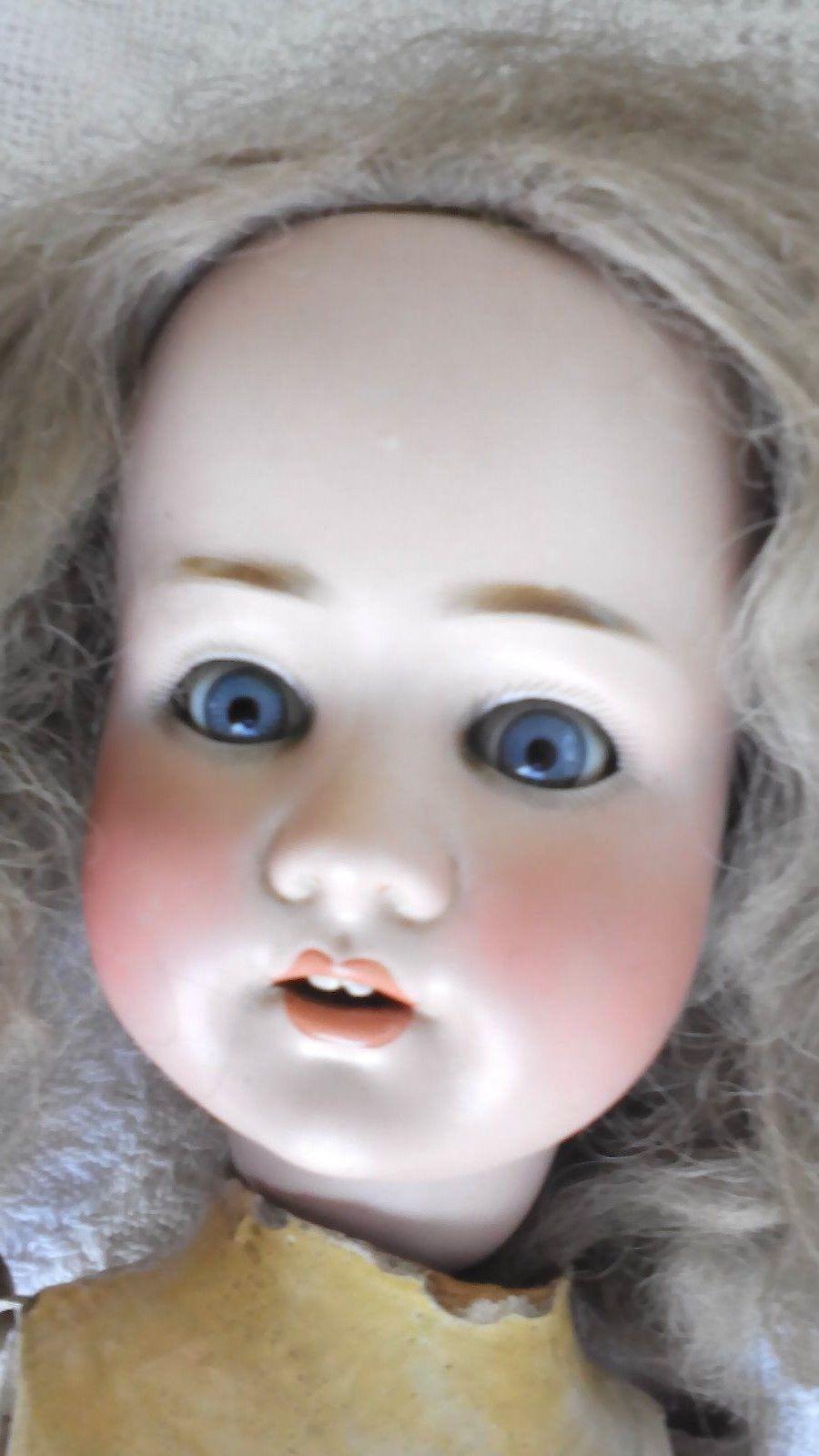 German Antique Porcelain Doll Pb Sh