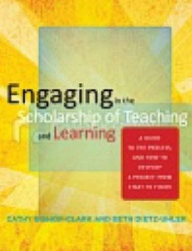 Engaging in the Scholarship of Teaching and Learning: A Guide to the Process, and How to Develop a Project from Start to Finish by Cathy Bishop-Clark, http://www.amazon.com/dp/1579224717/ref=cm_sw_r_pi_dp_Z6PFrb003Q276