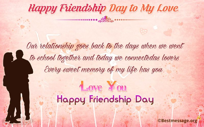 Beautiful Friendship Day Wishes Text Messages Quotes To My Love