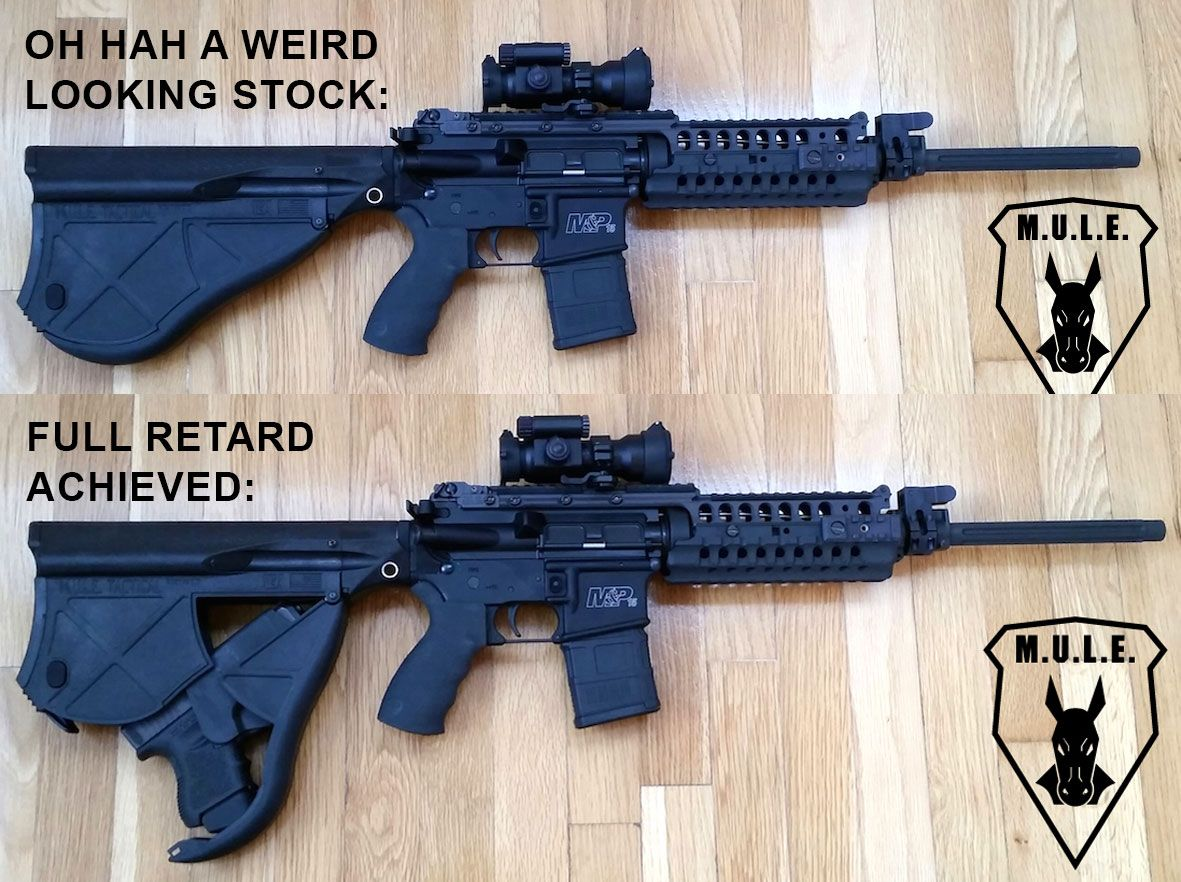 Mule Tactical Stock Holds A Glock Ar 15 Gun Accessories