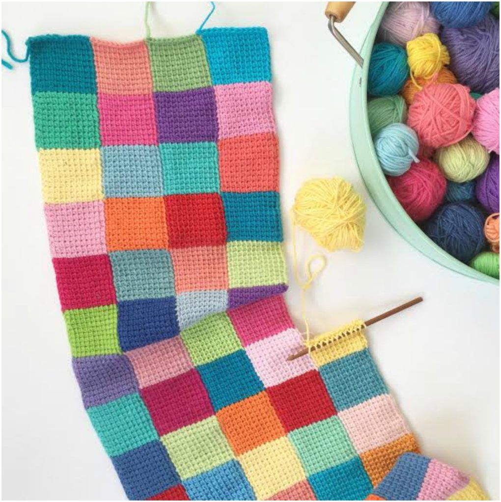 Entrelac Blanket Free Crochet Pattern | Entrelac | Pinterest ...