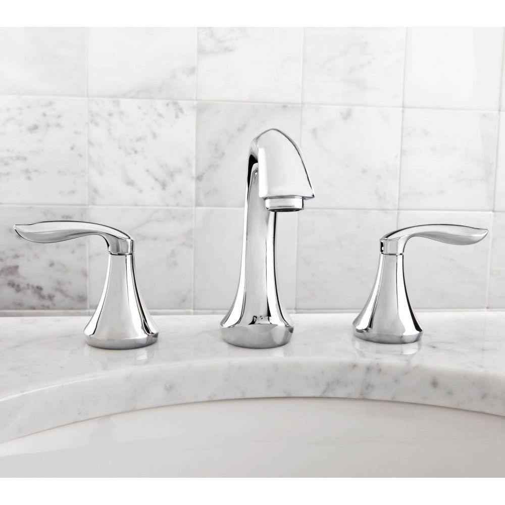 Moen T6420 Eva Polished Chrome Two Handle Widespread Bathroom ...