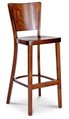 Parker Traditional Timber Bar Stool 76cm In Walnut