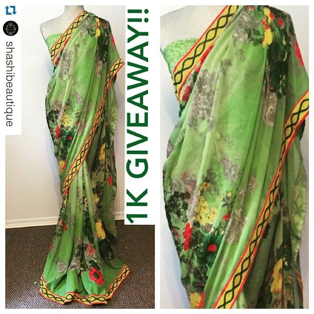 fabulous vancouver wedding 1K followers giveaway!! 1. Follow and like our friends instagram page @shashibeautique 3. Tag 5 friends and repost using hashtag #shashibeautique 4. Enter to win this beautiful green floral chiffon saree. Winner will be announced when we reach 1000 followers! #giveaway #indianwedding #bcwedding #bcbride #bridal #sareeswag #saree #sikhwedding #indianbride #anarkali #bollyfashion #bollywood #fashion #fashionista #event #shashibeautique #motivecosmetics #indian #sari…