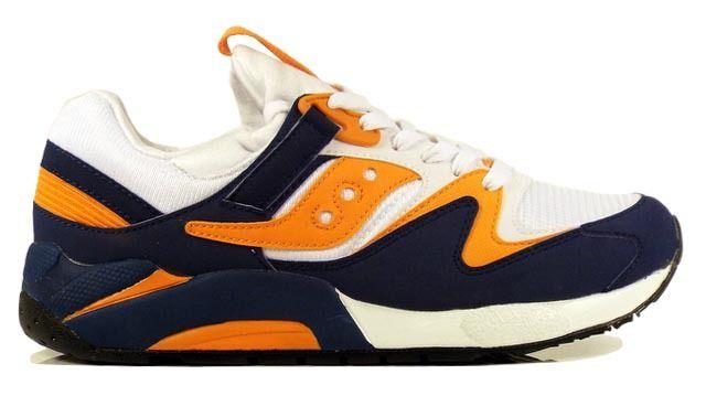 Detroit City Skateboards - Saucony Grid 9000 Shoes - White/Blue/Orange, $79.99 (http://www.detroitcityskateboards.com/saucony-grid-9000-shoes-white-blue-orange/)