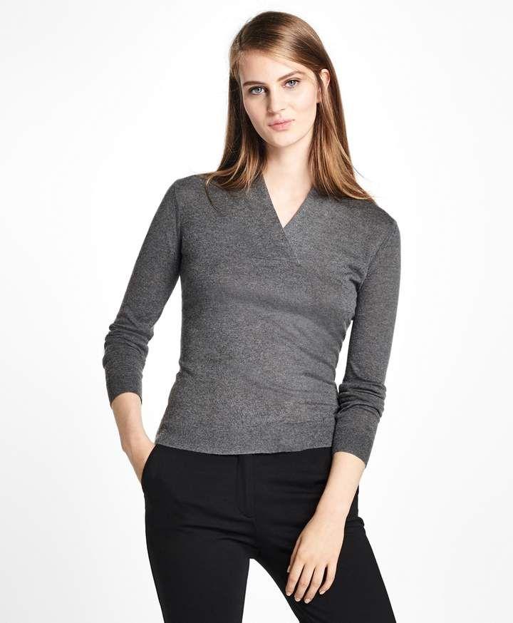 8d1653e2b Brooks Brothers Silk-Cashmere Shawl-Collar Sweater | She | Shawl ...