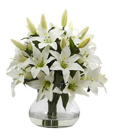 Loving This 16 White Lily Vase Arrangement On Zulily