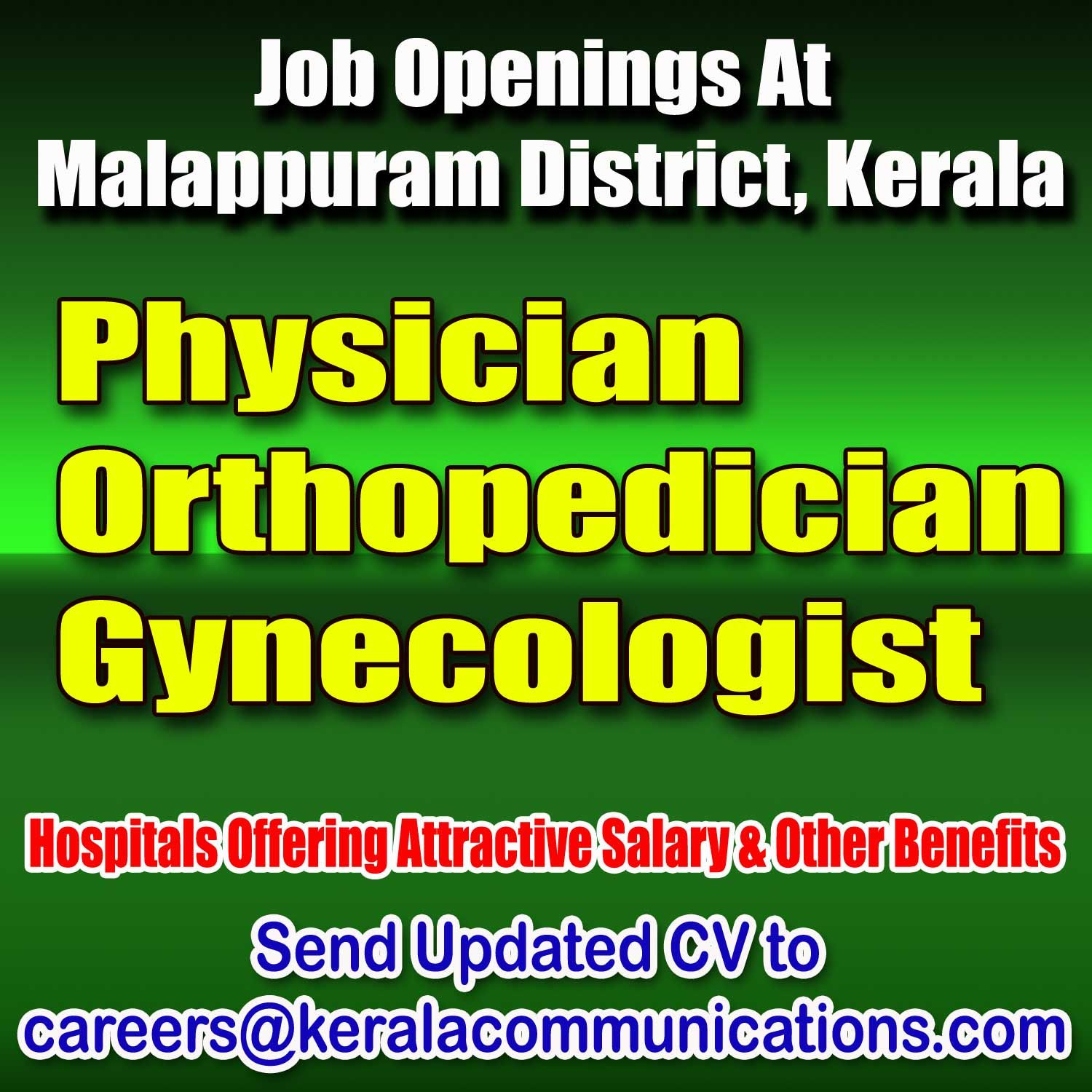 Hiring Orthopaedician for hospital in Ernakulam  Should be