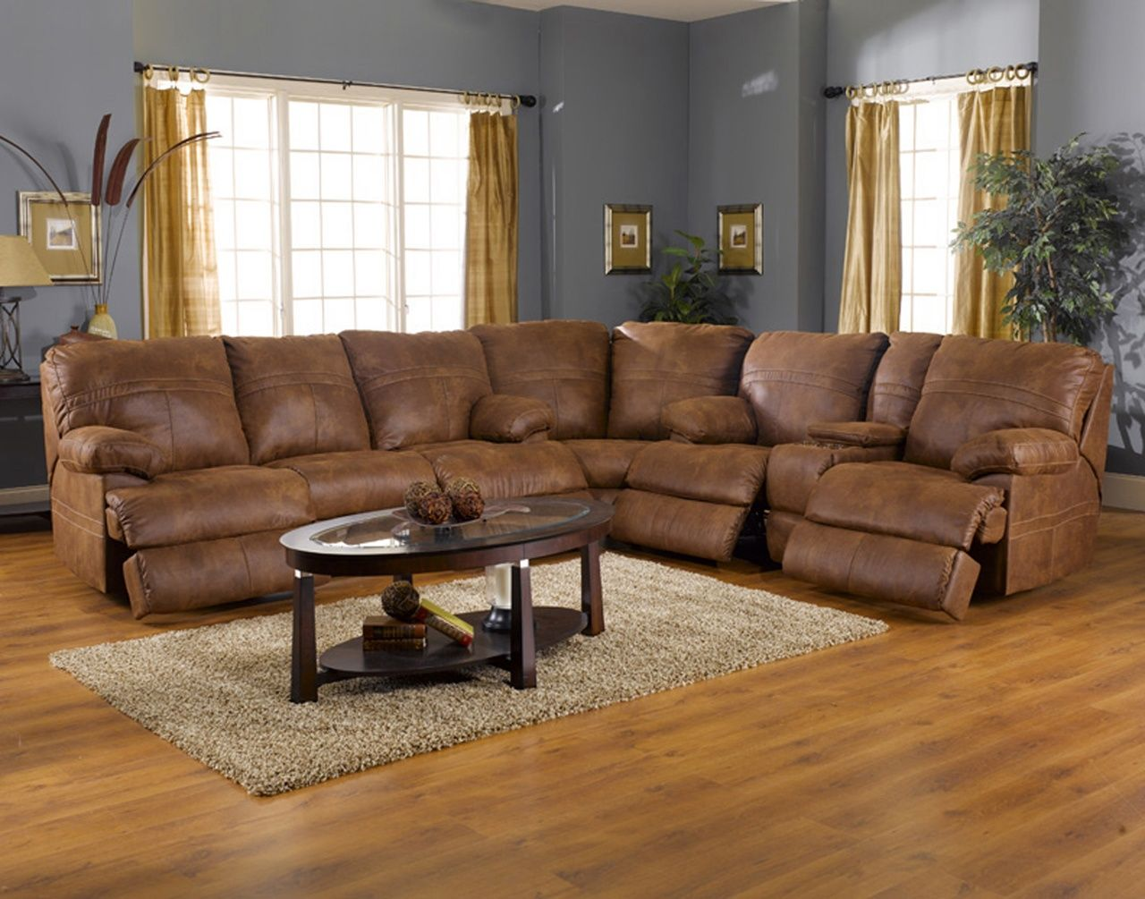 Leather Sectional Sofa With Recliner Sectional Sofa With
