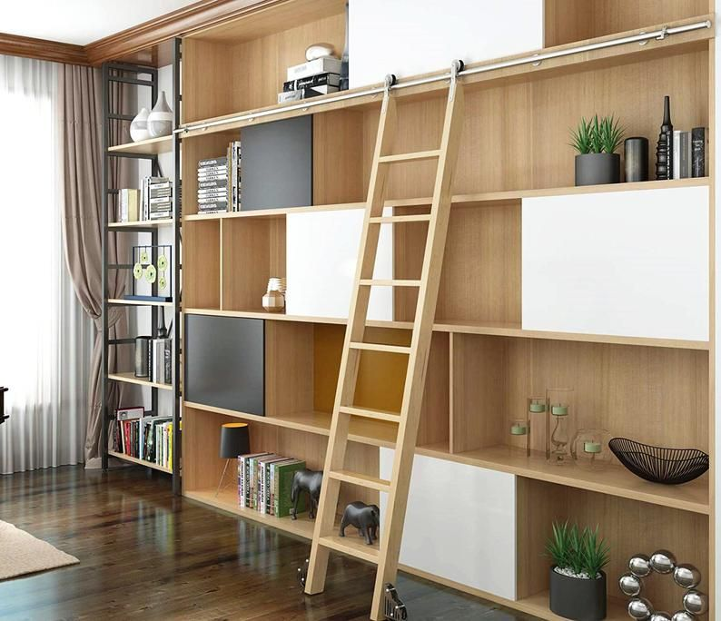 Diyhd Stainless Steel Sliding Library Ladder Hardware No Ladder In 2020 Bibliotheekladder En Woonideeen