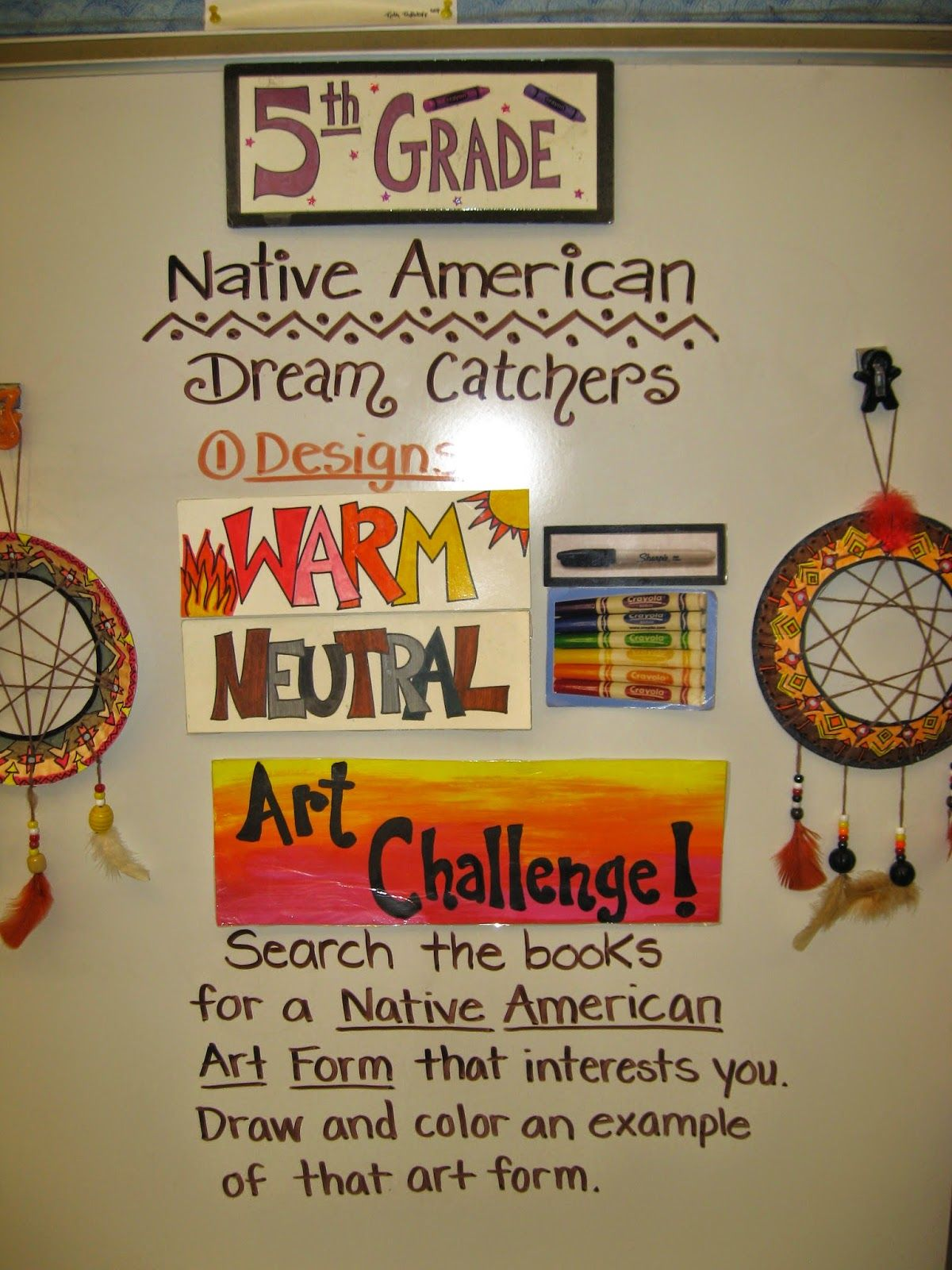 Jamestown Elementary Art Blog 5th Grade Native American Dream Catchers