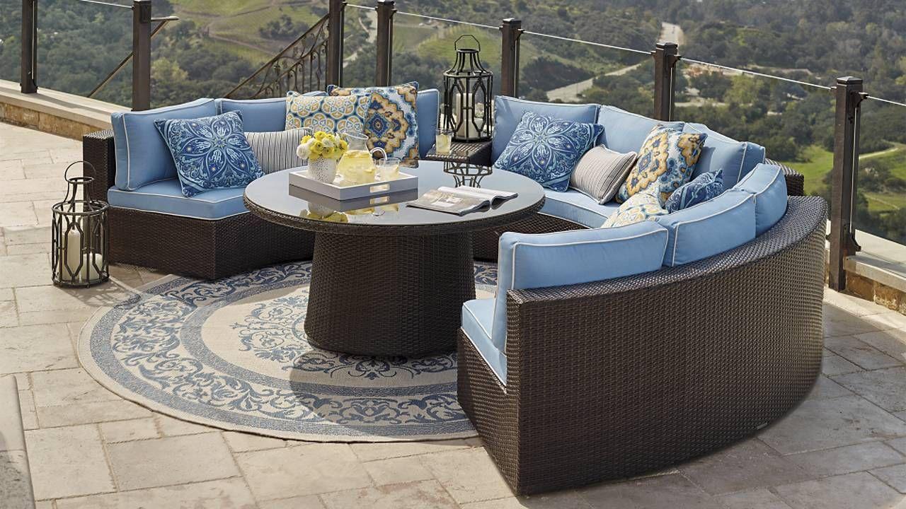 Pasadena Ii Modular Seating In Bronze Finish Outdoor Furniture
