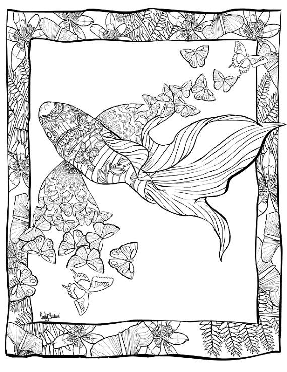 Adult Coloring Book. 46 Beautifully Hand Drawn by ...