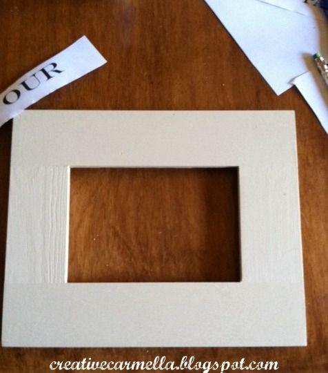 Creative Carmella: Frame it...a DIY project