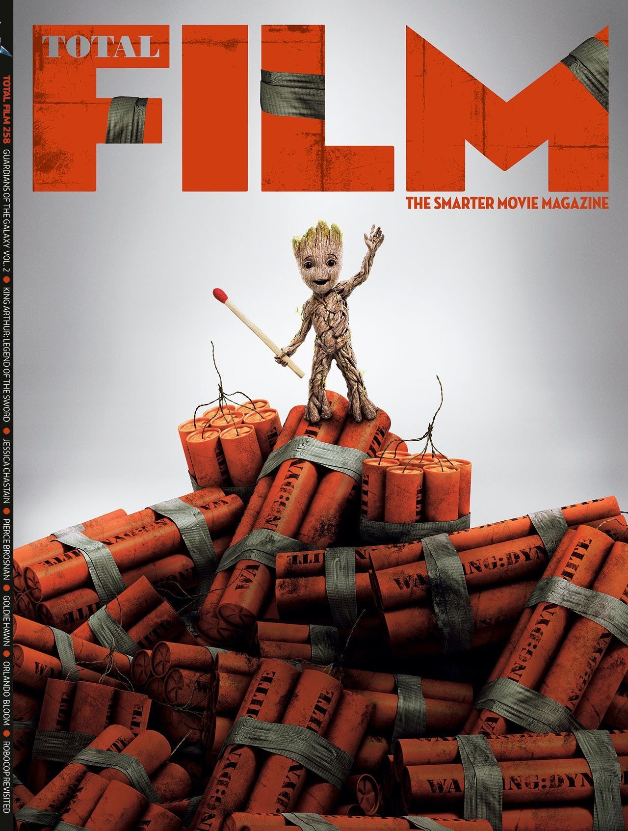 Baby Groot on the Total Film magz cove Marvel, Baby