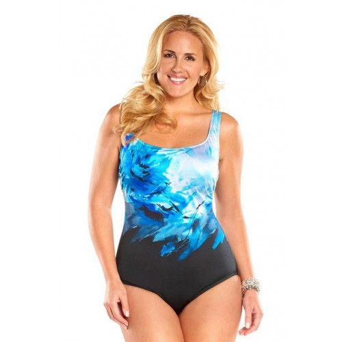 af42e22776 Longitude Swim Rosalinda Plus Size High Neck One Piece