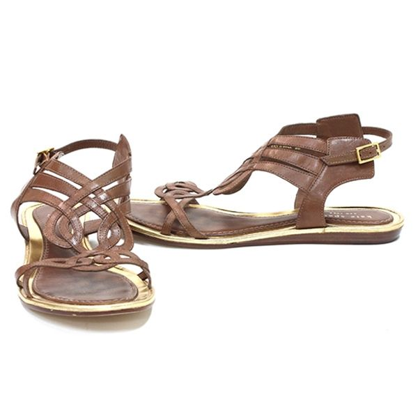 Kate Spade Brown Leather Strappy Sandals - $89.99