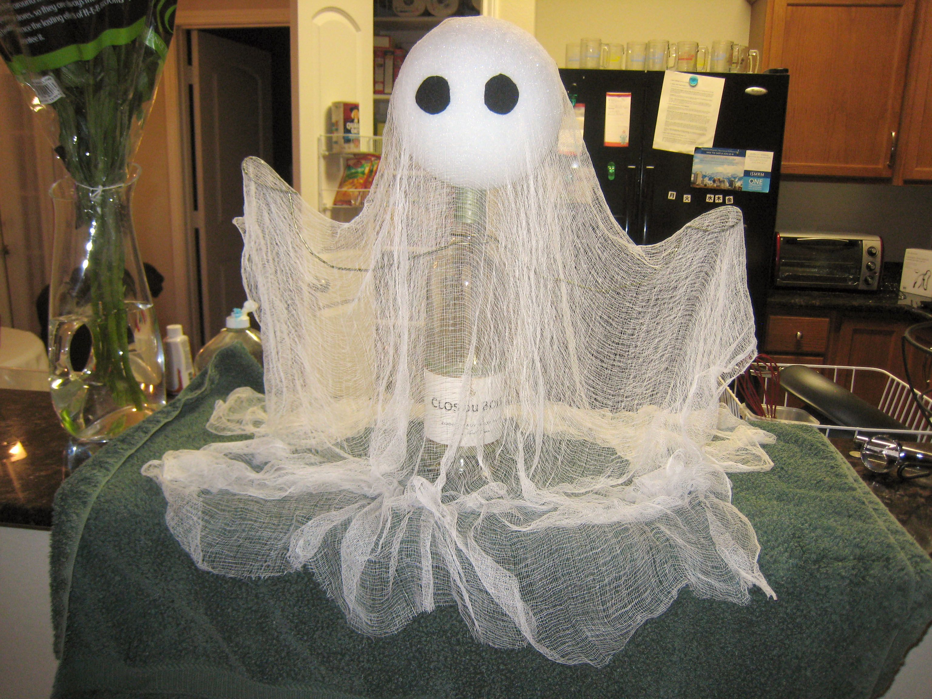 cheese cloth ghost halloween Pinterest Cheese cloth - Ghost Halloween Decorations