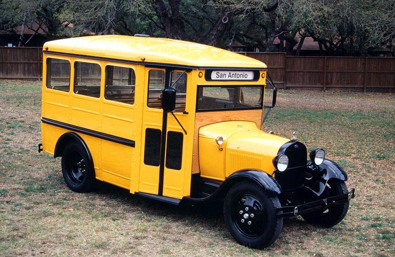 Awesome 1929 School Bus Restoration School Bus Cool Truck