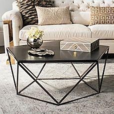 Image Of Safavieh Couture Alba Geometric Coffee Table In Black