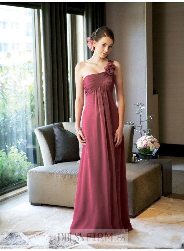 Claret Chiffon Dresses